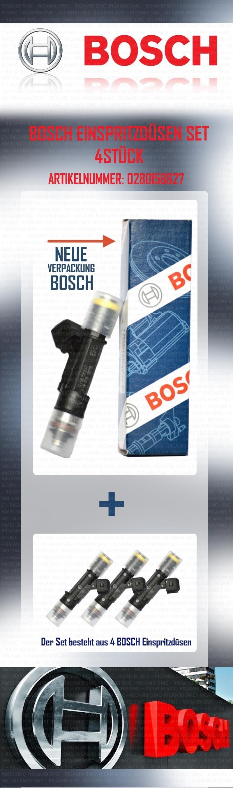 Set 4 einspritzd sen bosch fiat multipla doblo 1 6 bipower for Smc ricambi auto
