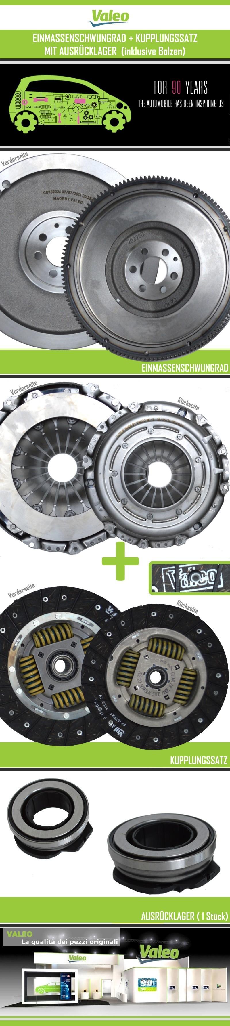 Kupplungssatz valeo 4 komponenten kit 3 komponenten kit for Smc ricambi auto