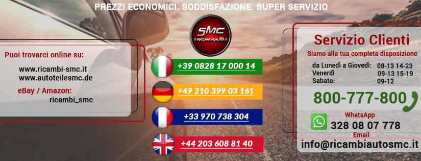 Contatti - Ricambi auto SMC