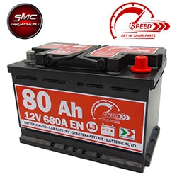 BATTERIA SPEED L380 80AH 680A 12V