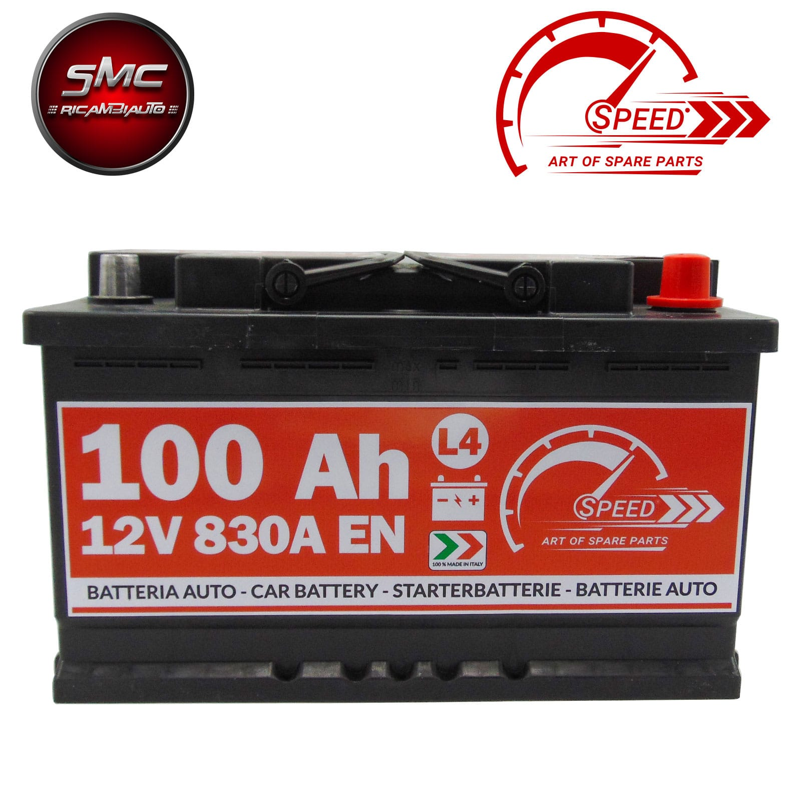 BATTERIA SPEED L4100 100Ah 830A 12V