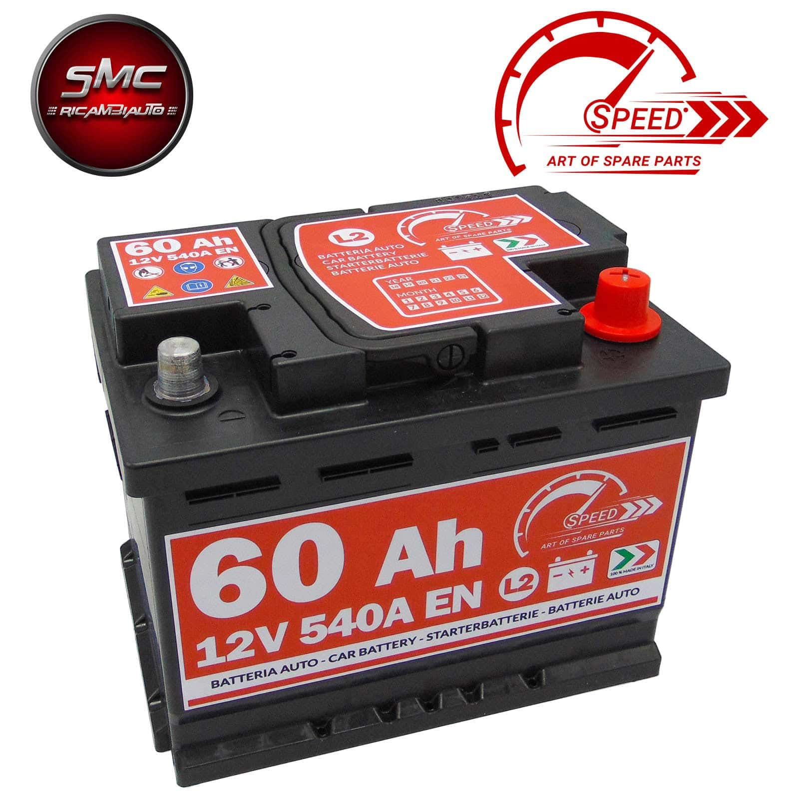 BATTERIA SPEED L260 60AH 540A 12V
