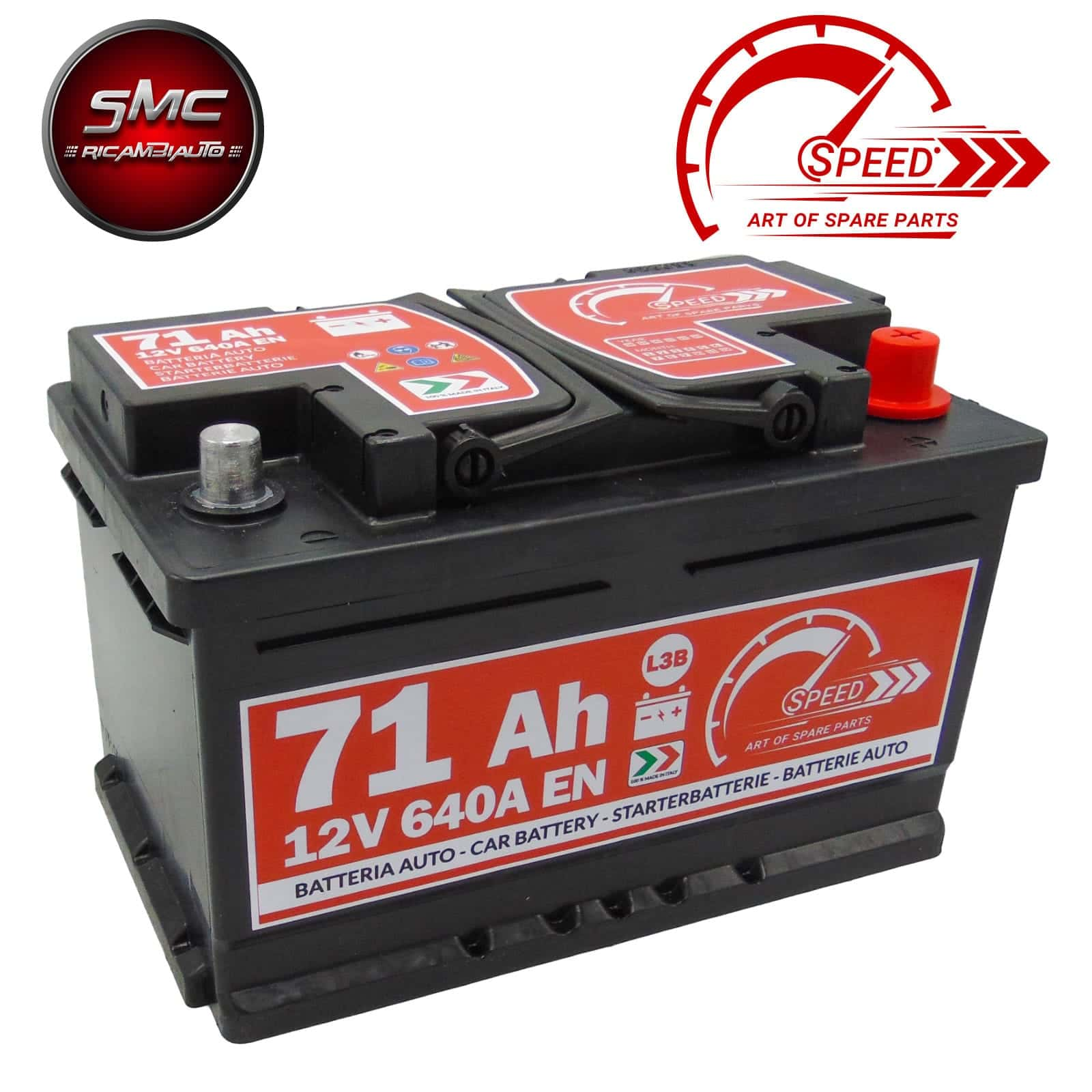 BATTERIA SPEED L3b 71AH 640A 12V