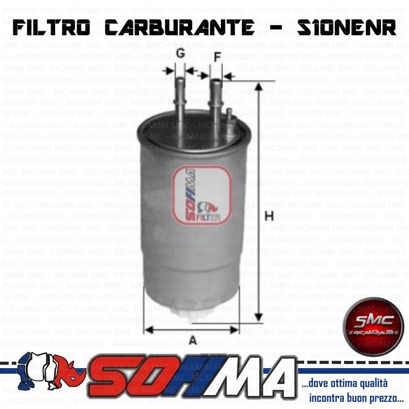 Sofima S6013NE Filtro Carburante