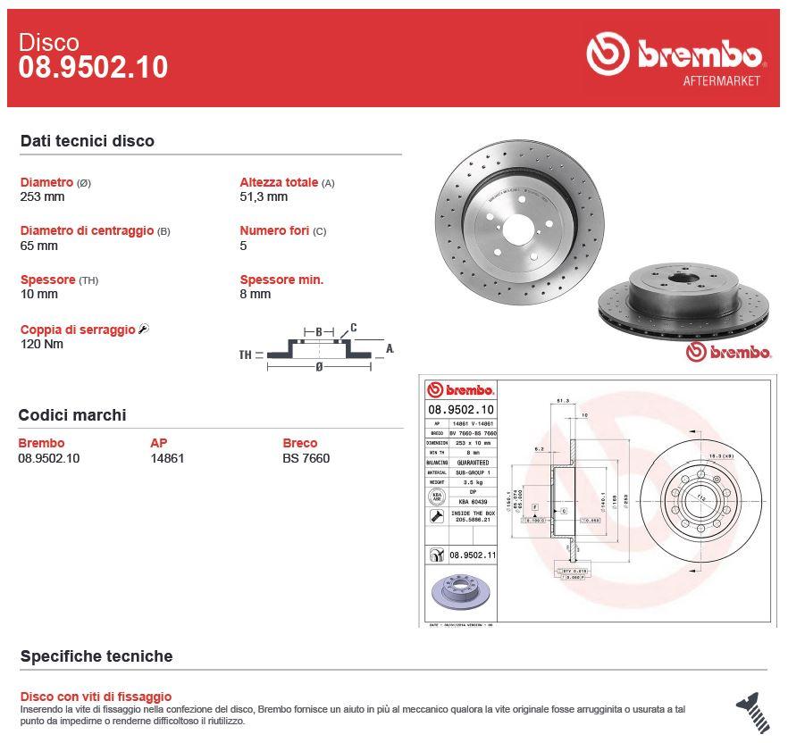 PASTIGLIE POSTERI FRENI BREMBO P85020 SKODA OCTAVIA COMBI 2.0 TSI RS 162 11//2012