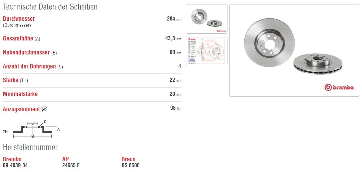 brembo bremsscheiben bremsbel ge vorne opel corsa d 1 3. Black Bedroom Furniture Sets. Home Design Ideas