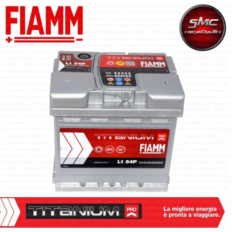 Batteria auto fiamm 7905145 54ah 520a ricambi auto smc for Smc ricambi auto