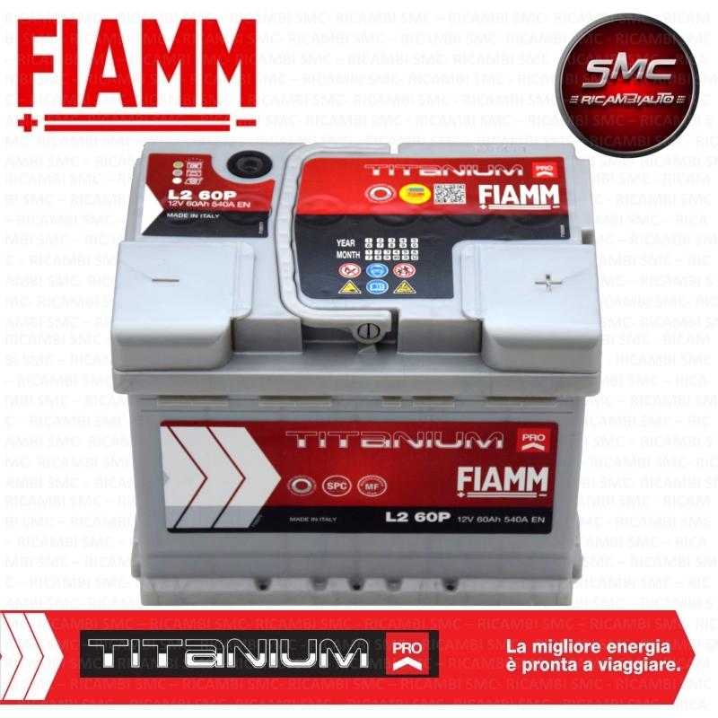 batteria auto fiamm 7905147 60ah 540a ricambi auto smc