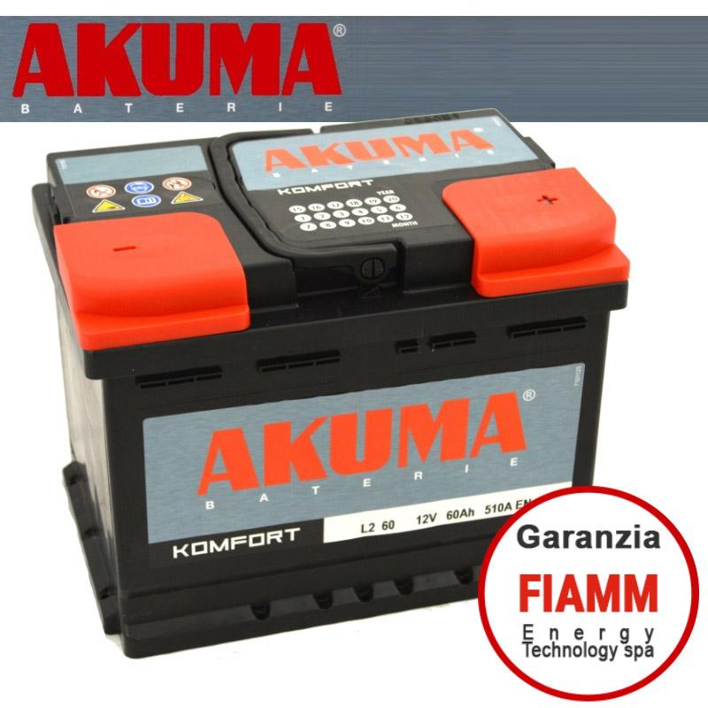 Batteria auto akuma 7903534 60ah 510a ricambi auto smc for Smc ricambi auto