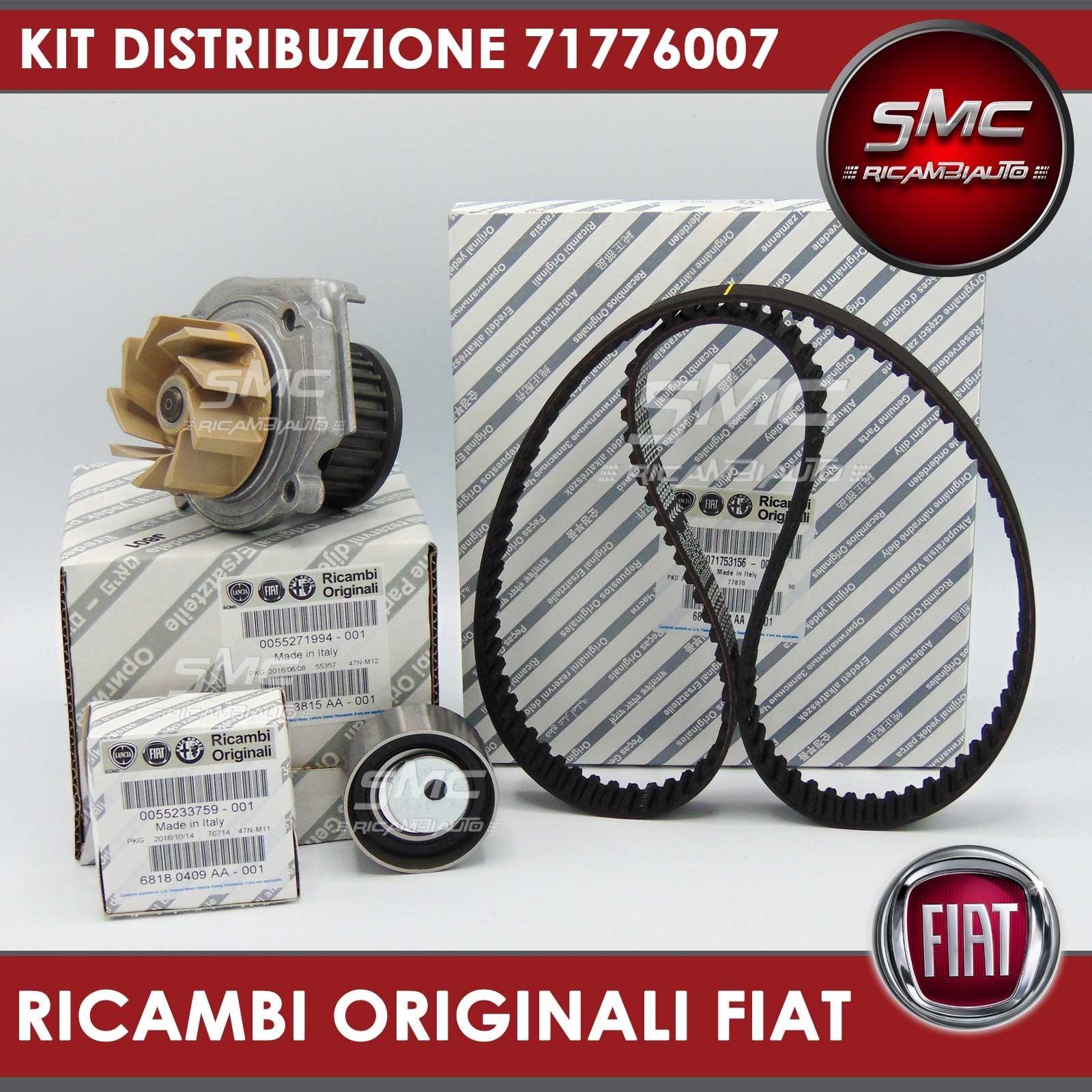 Kit cinghia distribuzione originale pompa acqua fiat 500 for Smc ricambi auto