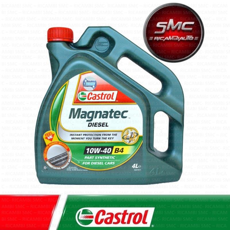 Olio motore castrol magnatec 10w40 a3 b4 4x4 lt 4 for Smc ricambi auto