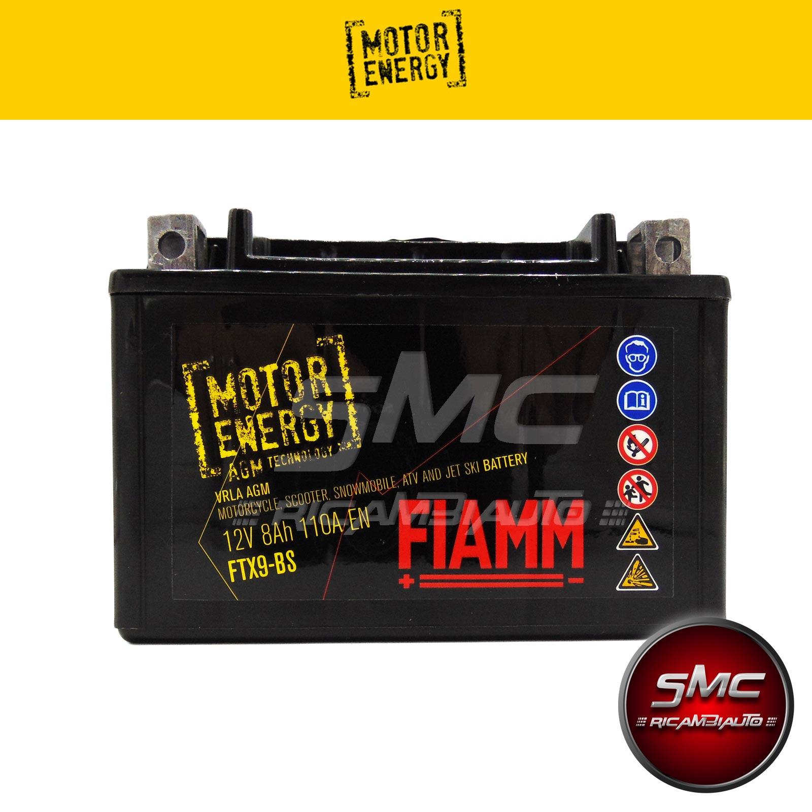 Batteria moto fiamm 7904483 ftx9 bs 8ah ricambi auto smc for Smc ricambi auto