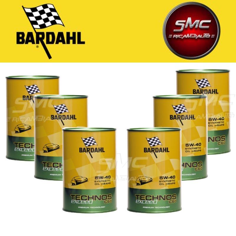 Kit Olio Bardahl Tec C60 5W40 Exceed 309040-6