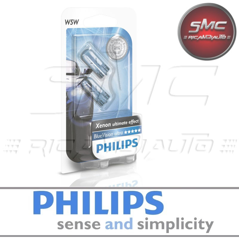 Lampadina W5W Philips 12961Nbvb2 Whitevision