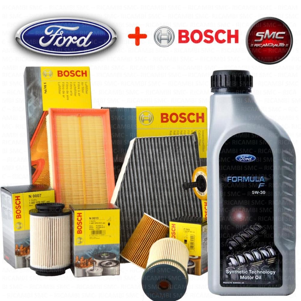 kit tagliando filtri bosch 4 lt olio ford 5w30 fiesta v. Black Bedroom Furniture Sets. Home Design Ideas