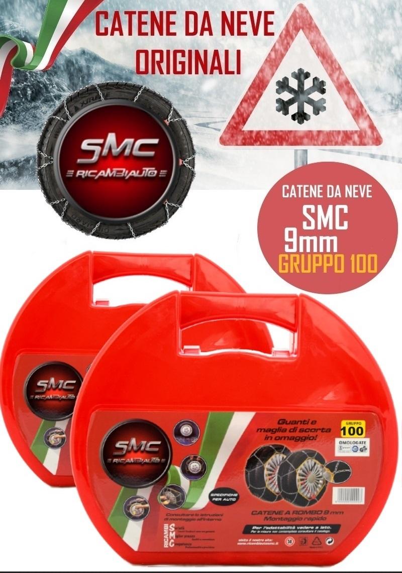 Smc catene da neve 9mm 100 9mm100 ricambi auto smc for Smc ricambi auto