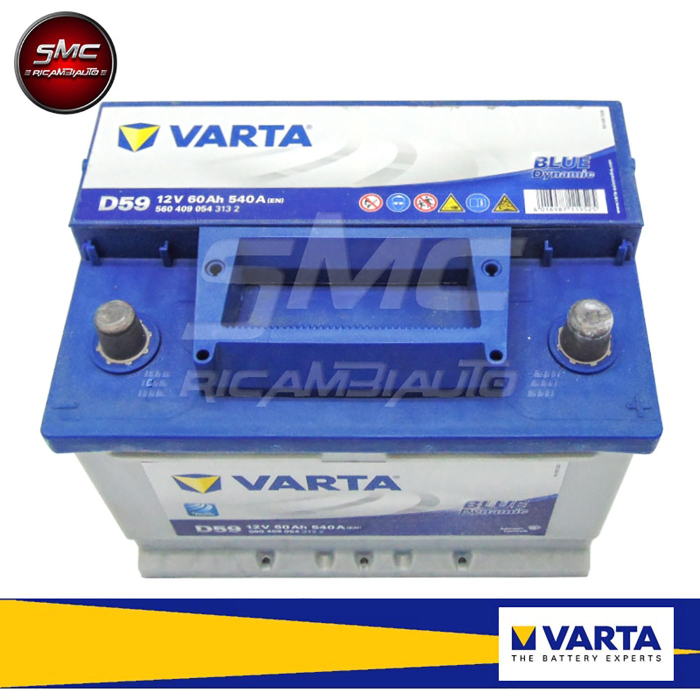 Batteria auto varta 560409054 60ah 540a ricambi auto smc for Smc ricambi auto