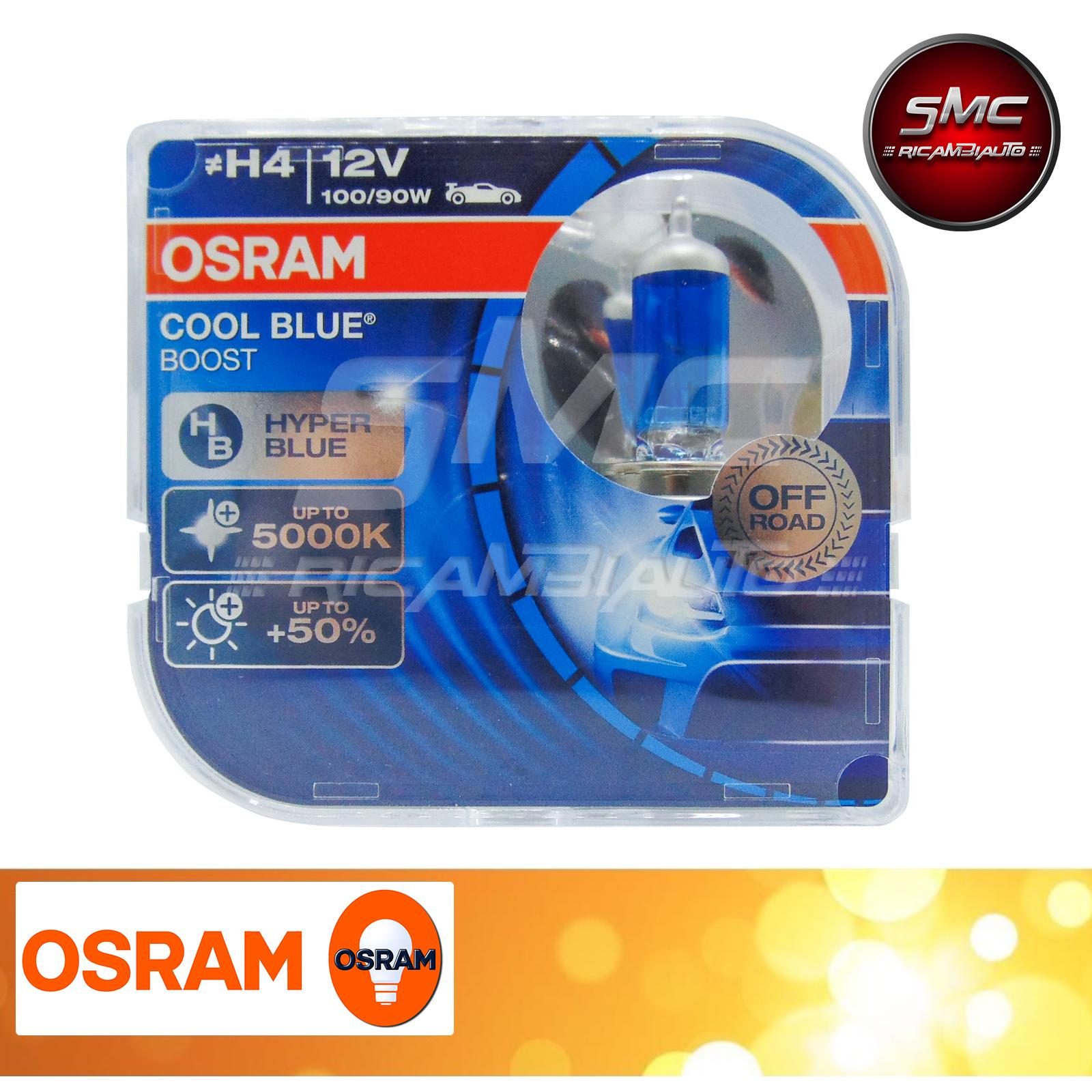 Nuove lampade osram h4 cool blue boost 5000k 12v 100 90w for Smc ricambi auto
