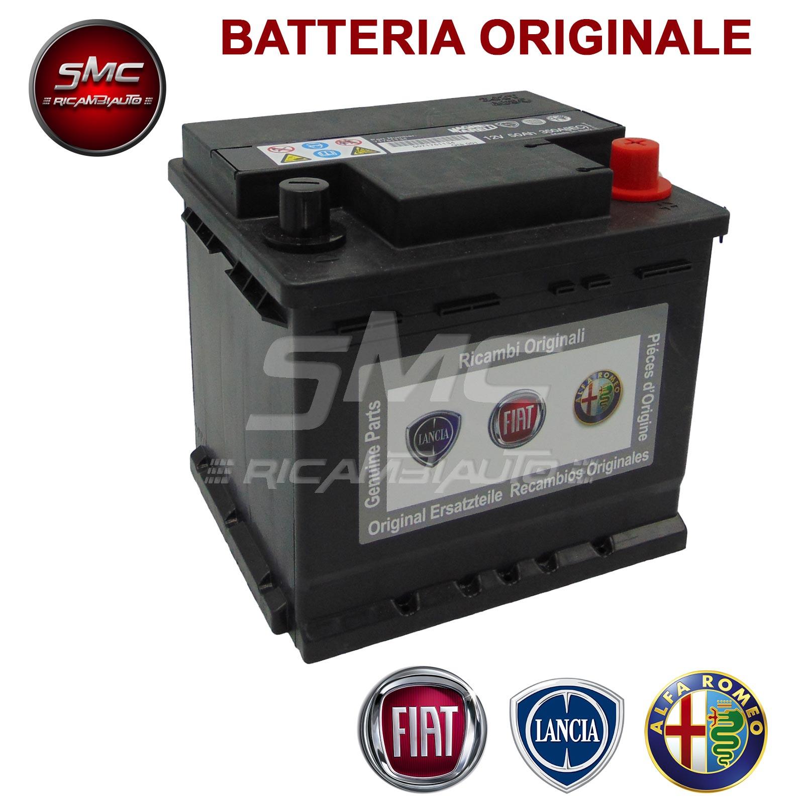 Batteria fiat 50 ah 350a 12v 71751134 ricambi auto smc for Smc ricambi auto