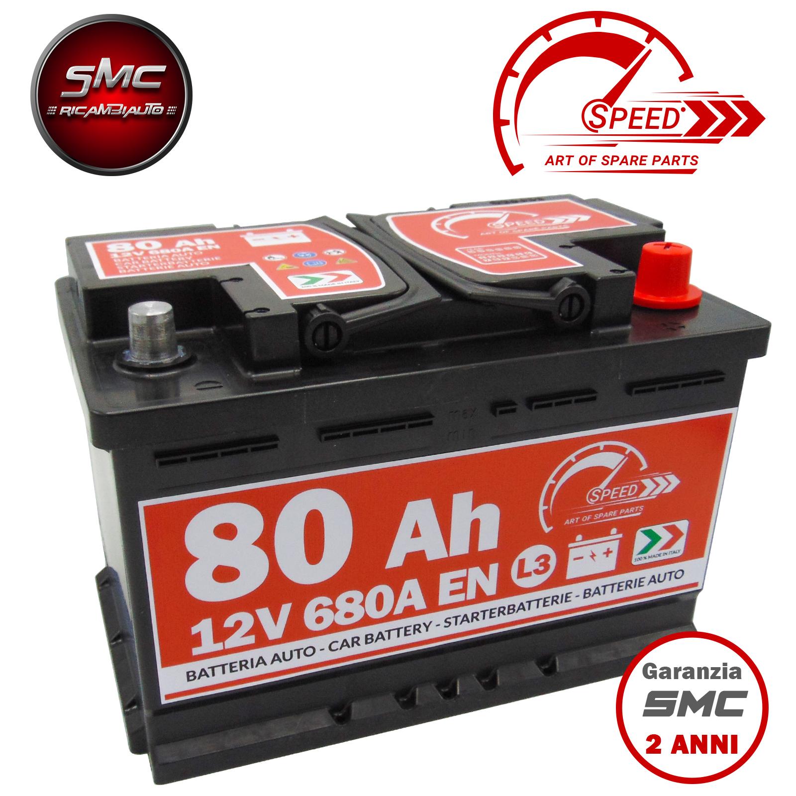 Batteria speed l380 7903639 80ah 680a 12v ricambi auto smc for Smc ricambi auto