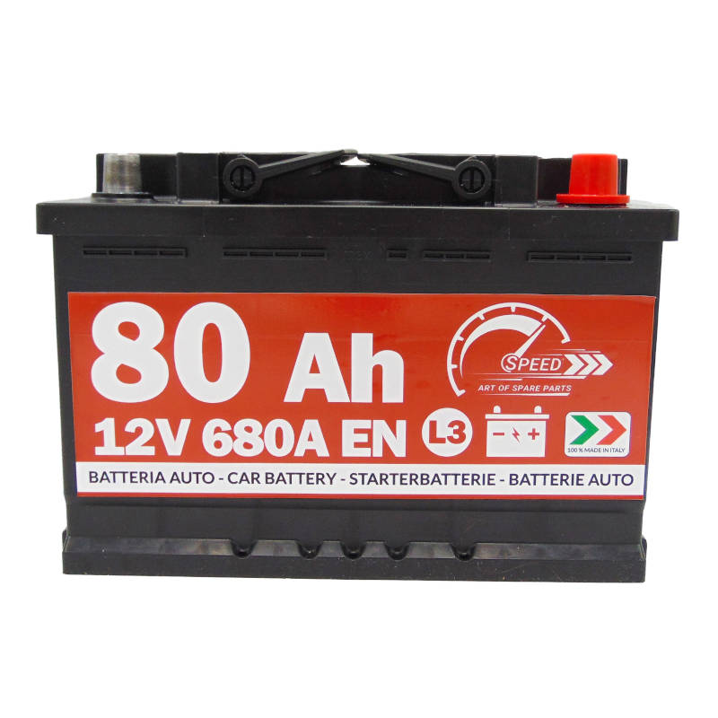 SPEED Autobatterie 80Ah 680A 12V