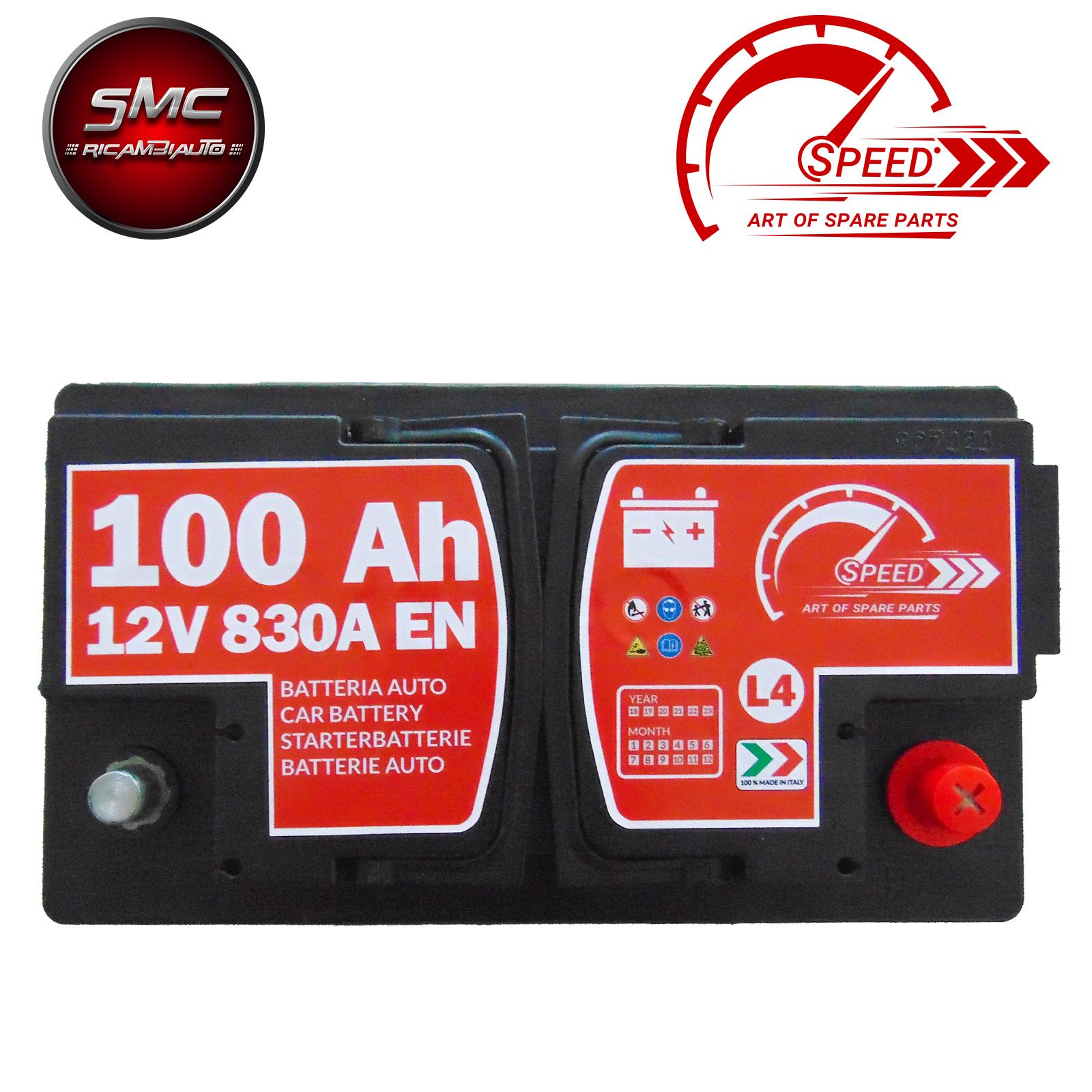 Batteria speed l4100 7904733 12v 100ah 830a ricambi auto smc for Smc ricambi auto