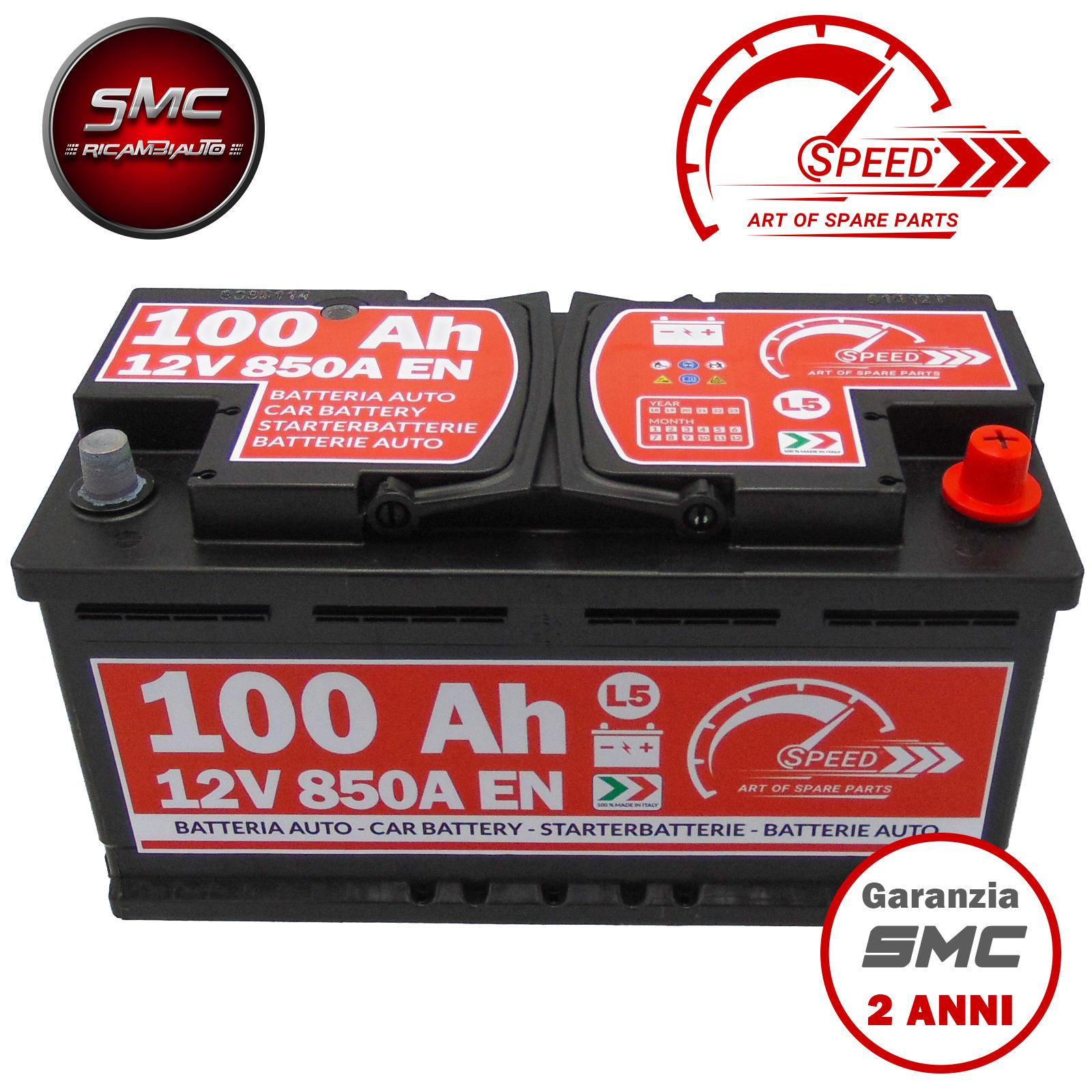 Batteria speed l5100 7903359 12v 100ah 850a ricambi auto smc for Smc ricambi auto