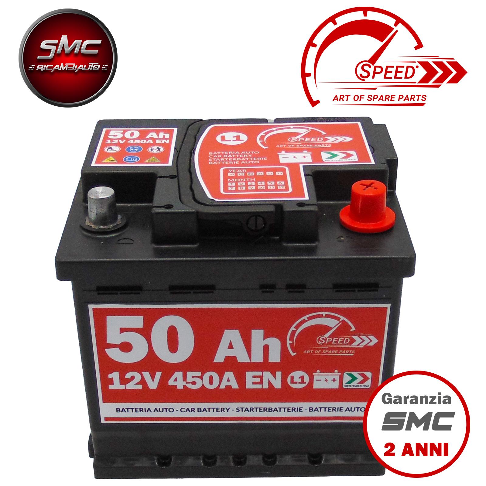 7905143/L1/50P 12/V 50/Ah 460/A EN con Polo Positivo a Destra Batteria auto originale FIAMM cod