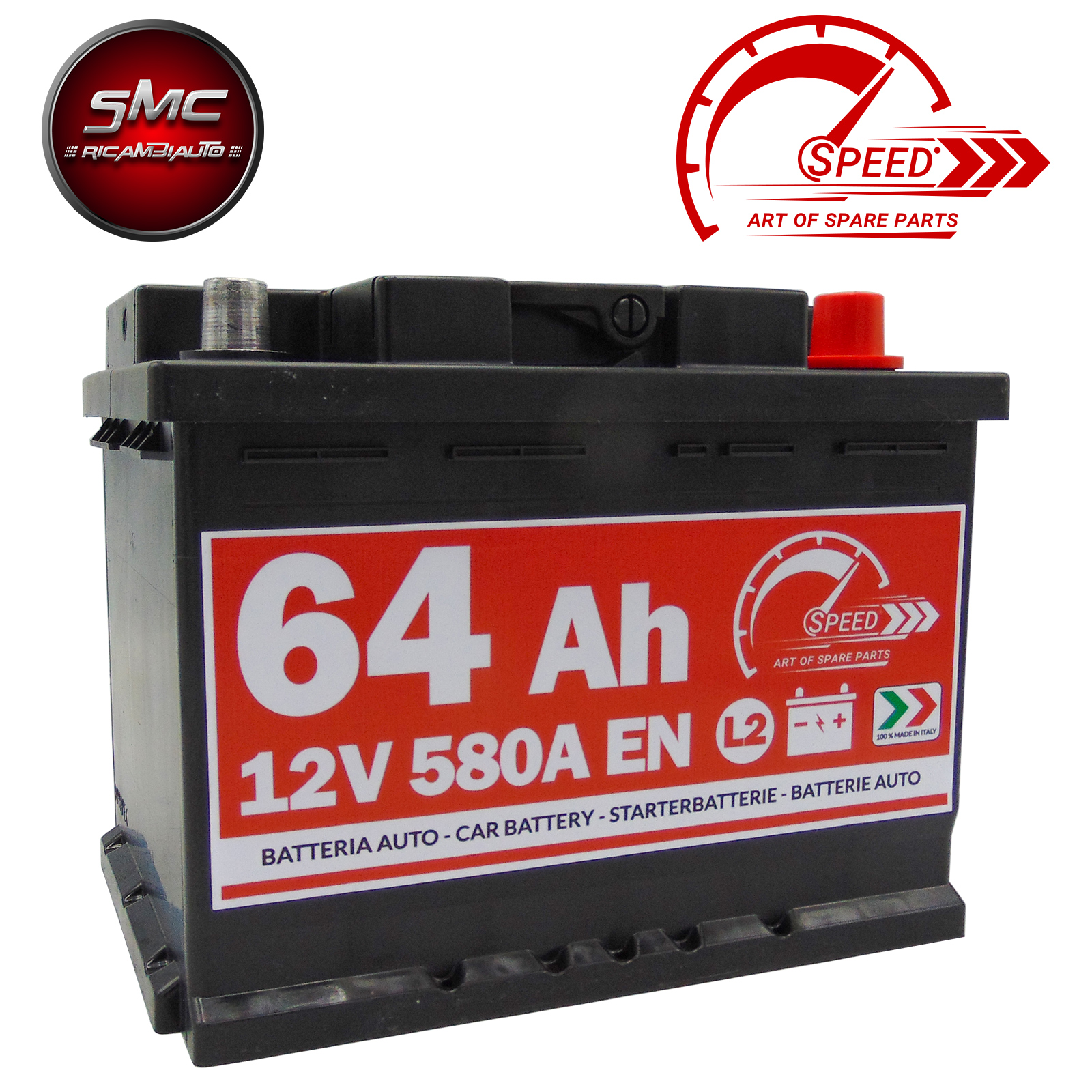 BATTERIA SPEED L264 64AH 580A 12V