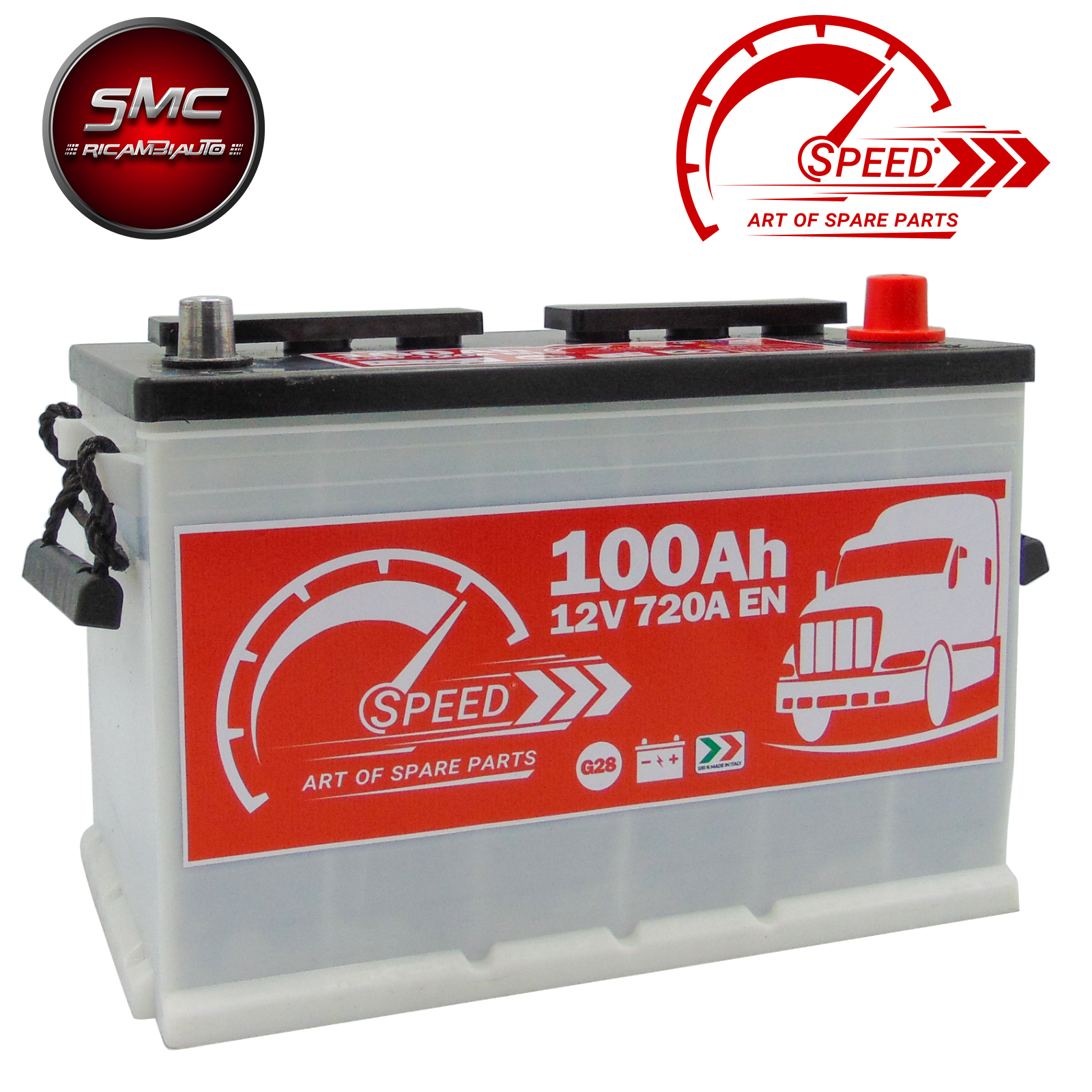 BATTERIA SPEED G28 100AH 720A 12V