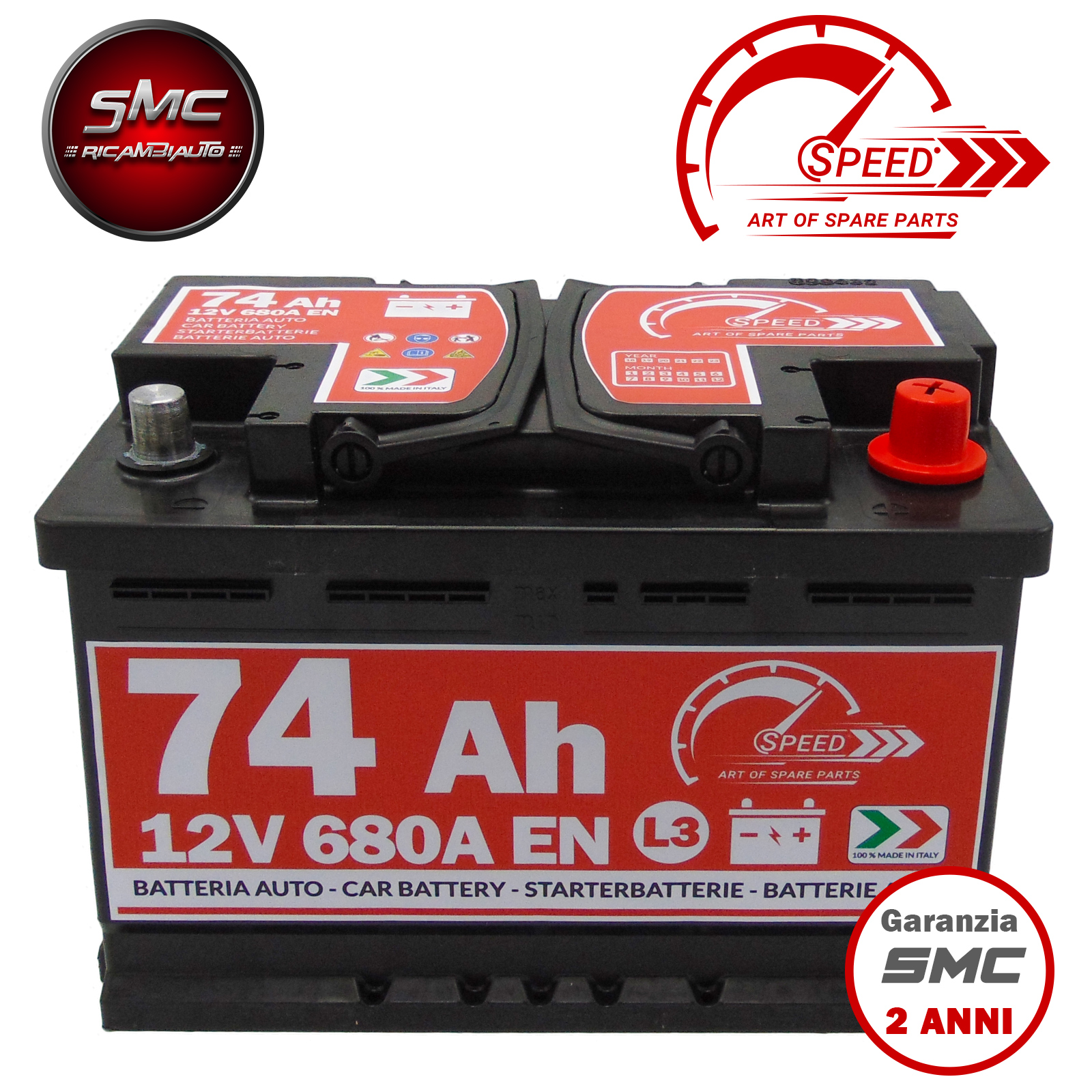 BATTERIA SPEED L374 74Ah 680A 12V