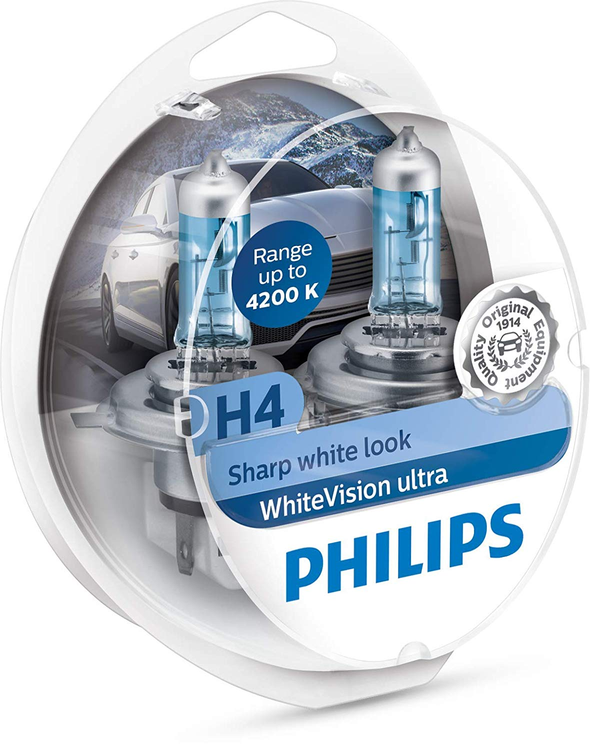Lampade Auto Philips WhiteVision Ultra H4