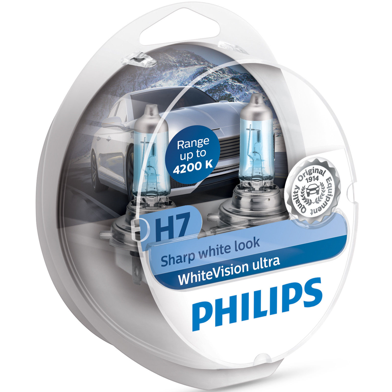 Kit 2 Lampade Philips H7 WhiteVision Ultra