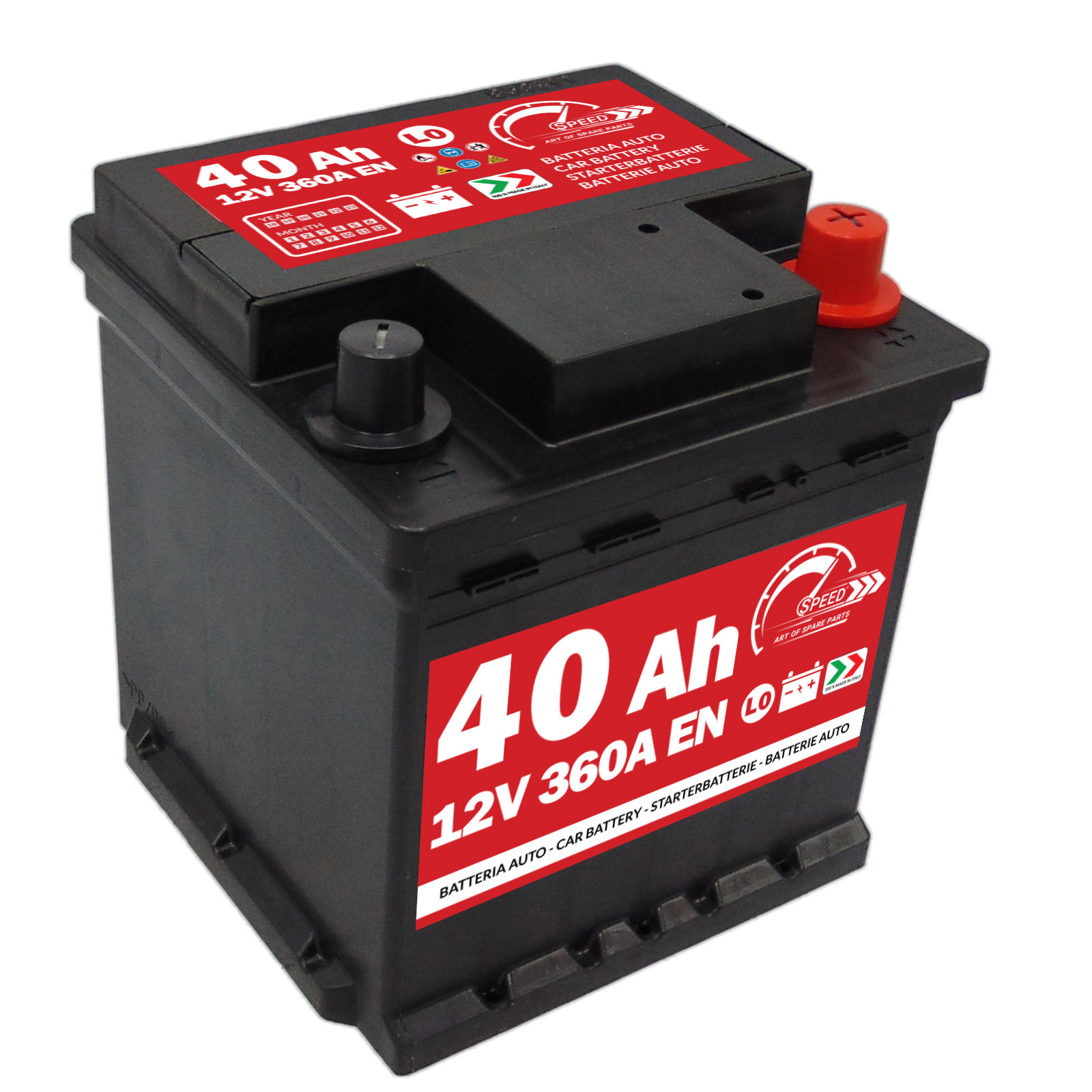 Starterbatterie Auto Speed L040 40Ah 360A 12V