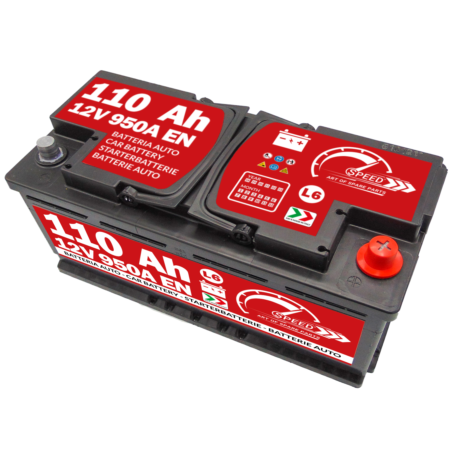 Batteria auto Speed 110Ah L6 950A 12V BMW Serie 5